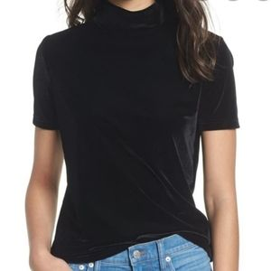 Madewell black mock top